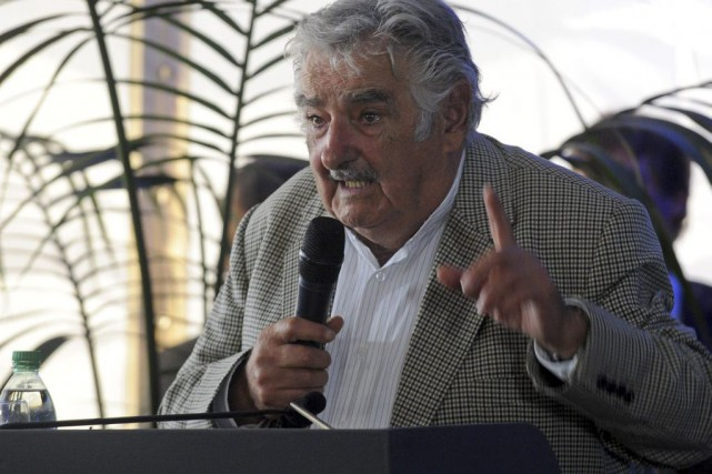 José Mujica... (PHOTO MIGUEL ROJO, AFP)