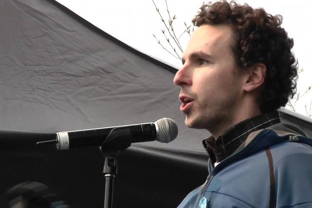 Le porte-parole de Greenpeace, Nicolas Mainville, estime que... ((Courtoisie))