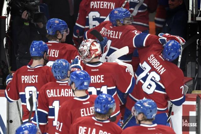 Les joueurs du Canadien affronteront les Sharks, les... (PHOTO BERNARD BRAULT, LA PRESSE)
