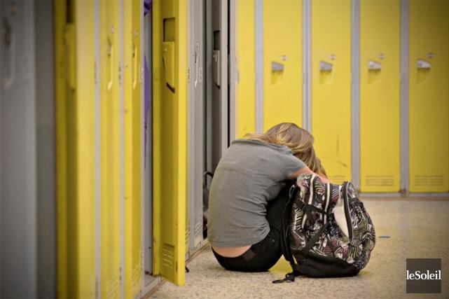 Dans une étude, les jeunes intimidés qui étaient... (PHOTO PASCAL RATTHÉ, ARCHIVES LE SOLEIL)