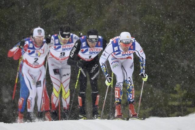 Alex Harvey (deuxième à partir de la gauche)... (Anders Wiklund)