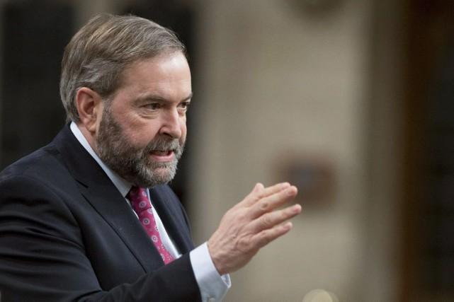 Thomas Mulcair a aussi indiqué que sous un... (Photo La Presse Canadienne, Justin Tang)
