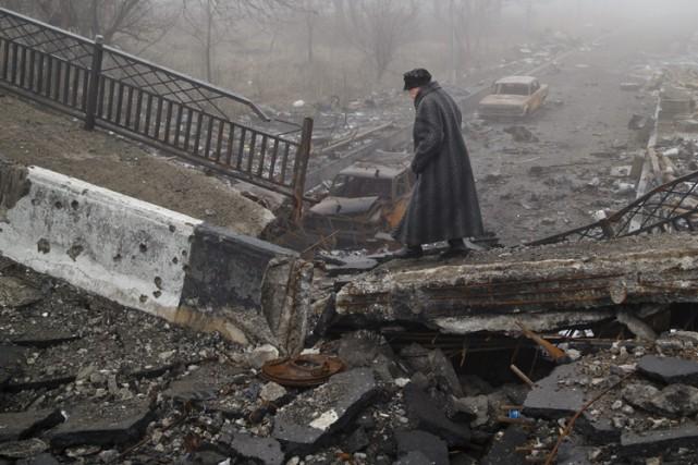 La situation restait calme dimanche dans l'Est séparatiste de l'Ukraine, malgré... (Photo: AP)