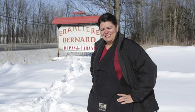 Sarah Bernard, de l'érablière Bernard... (photo Catherine Trudeau)