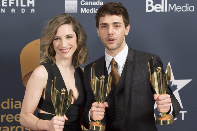 Xavier Dolan et la productrice de Mommy Nancy... (Photo: PC)