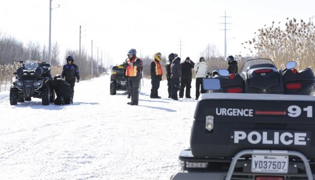 Deux patrouilleurs de la police de Granby ont fait de la surveillance sur les... (Photo Catherine Trudeau)