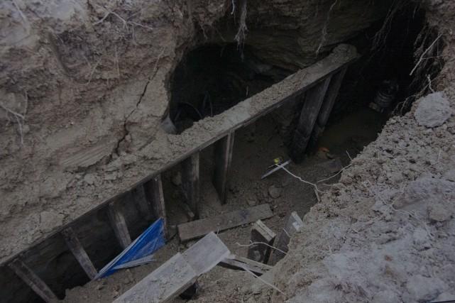 Le tunnel a été découvert par un employé... (PHOTO ARCHIVES LA PRESSE CANADIENNE)