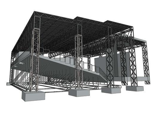 Concrètement, la structure et la toiture seront faciles... (Illustration fournie par la Ville de Sherbrooke)