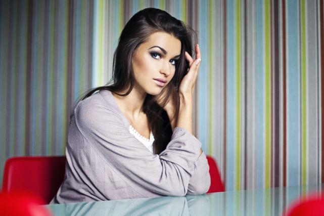 Ganna Douritska, mannequin ukrainienne de 23 ans habitant... (Archives AFP)
