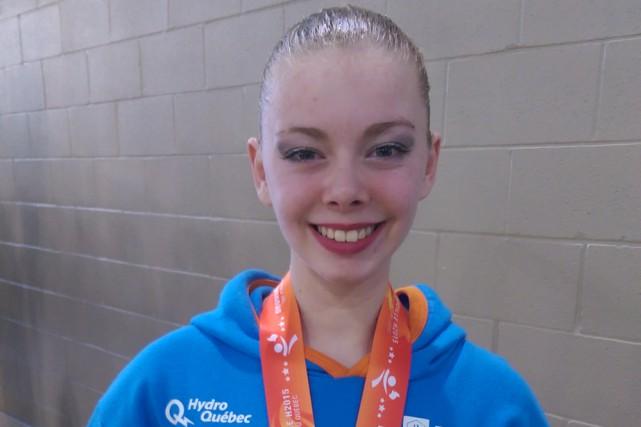 Marianne Boisvert a obtenu le bronze en nage... (Photo: URLS Mauricie)
