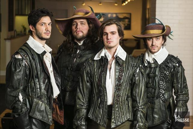 Les acteurs des Trois Mousquetaires:Éric Bruneau (Athos), Guillaume... (PHOTO HUGO-SEBASTIEN AUBERT, LA PRESSE)
