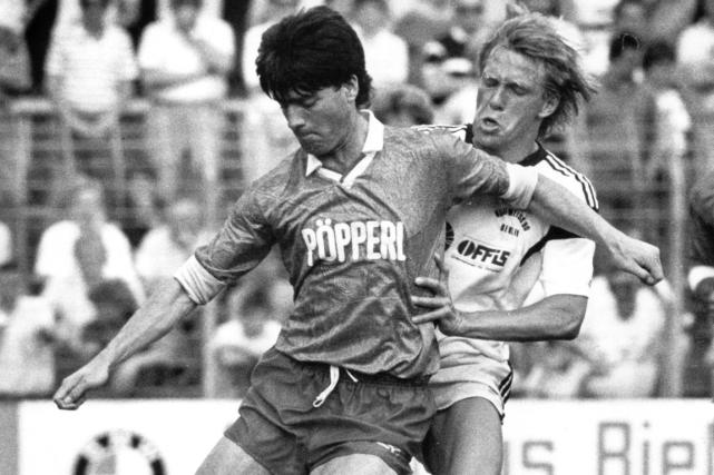 Le sélectionneur de l'Allemagne, Joachim Löw (à gauche),... (Photo archives AFP)