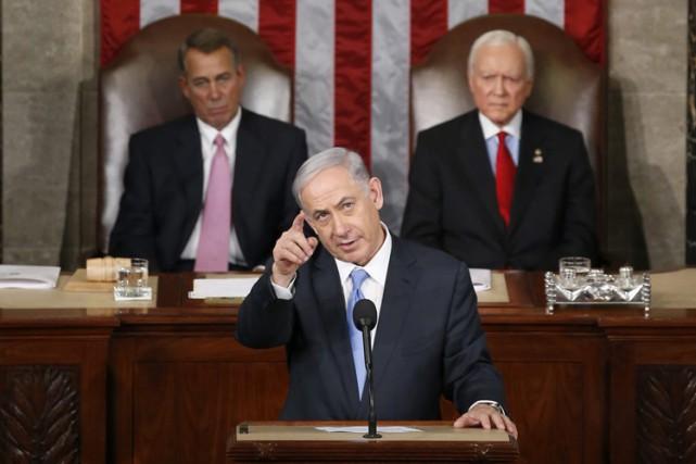 Pour sa troisième intervention au Congrès après celles... (Photo: AP)