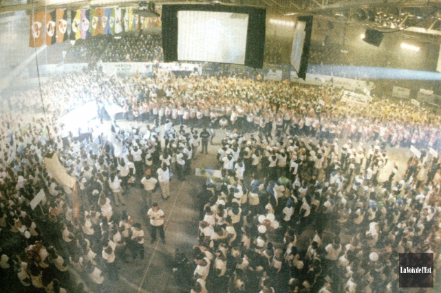 Plus de 3500athlètes, accompagnateurs et officiels avaient envahi... (photo archives La Voix de l'Est)