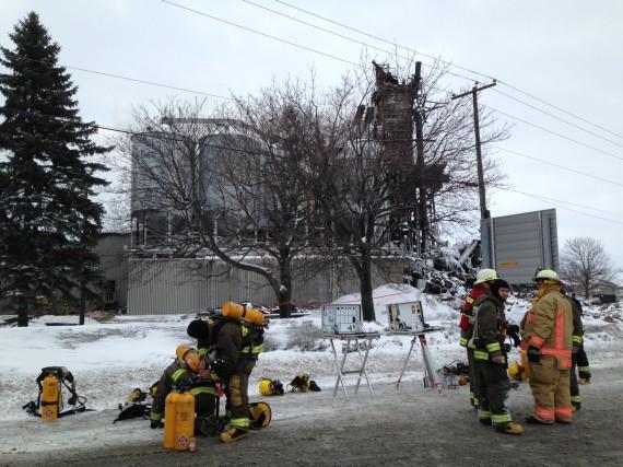 Les pompiers ont été appelés pour un autre... (photo Alain Dion)
