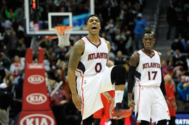 Jeff Teague (0) a inscrit 25 points dans... (Photo John Amis, AP)