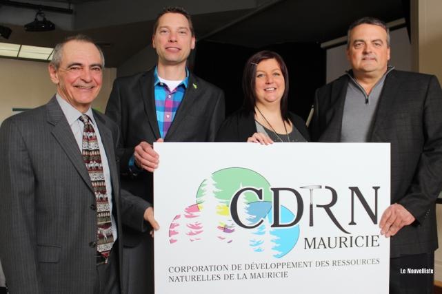 Le nouveau logo de la Corporation de développement... (Photo: Audrey Tremblay, Le Nouvelliste)