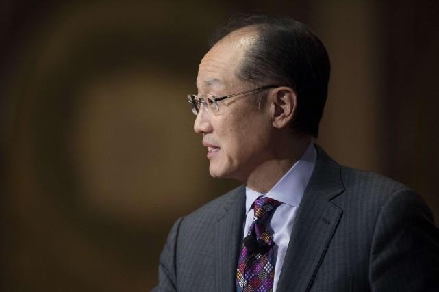 Le président de la Banque mondiale, Jim Yong... (PHOTO ARCHIVES AFP)