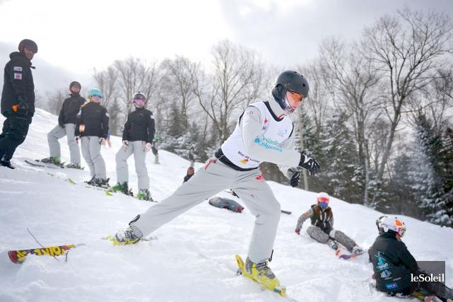 Le skieur acrobatique de Québec Lewis Irving a... (Photothèque Le Soleil, Yan Doublet)