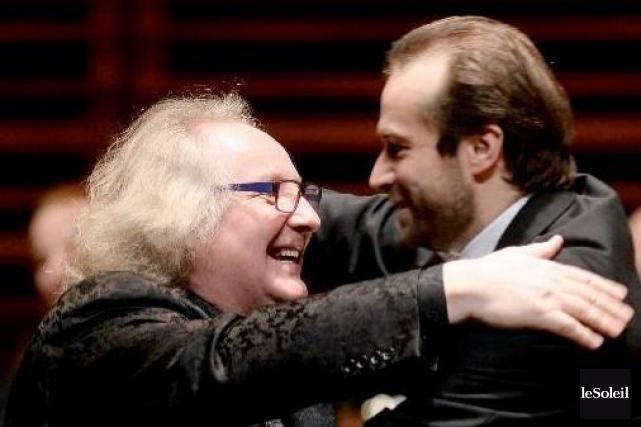 Ovationné par les spectateurs, Reinhold Friedrich a partagé... (Photo Le Soleil, Erick Labbé)