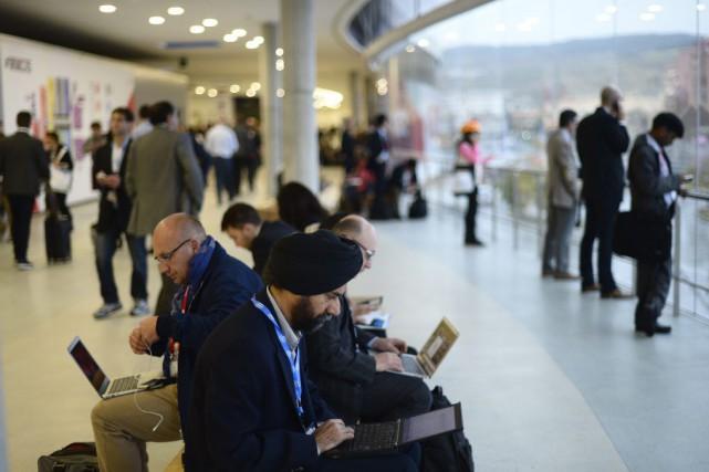 Le Congrès mondial de la téléphonie mobile de... (Photo Manu Fernandez, AP)