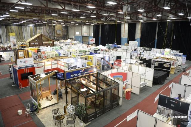 Le Salon Expo-Habitat de Chicoutimi, qui rappelle l'arrivée... ((Photo Le Quotidien, Jeannot Lévesque))