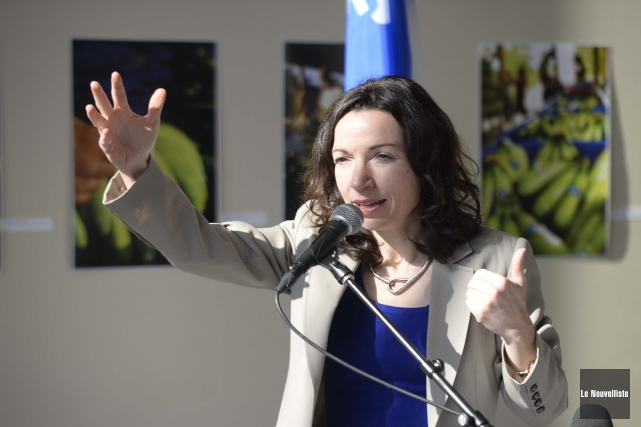 Martine Ouellet, candidate à la direction du Parti... (Photo: Sylvain Mayer Le Nouvelliste)