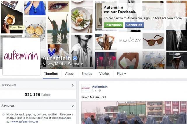 L'éditeur de sites internet Aufeminin a fait du partage de ses contenus sur les... (CAPTURE D'ÉCRAN)