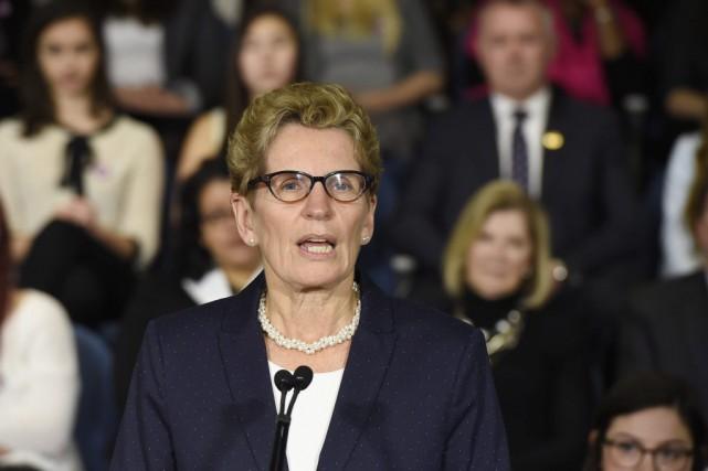 Kathleen Wynne a présenté la campagne de sensibilisation... (Frank Gunn, La Presse Canadienne)