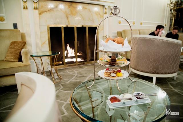 Ambiance au salon de thé de l'hôtel Ritz-Carlton.... (Photo Alain Roberge, La Presse)
