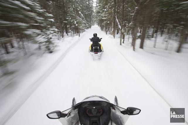 Au Québec, il y a 33000kilomètres de sentiers... (PHOTO ARCHIVES LA PRESSE)