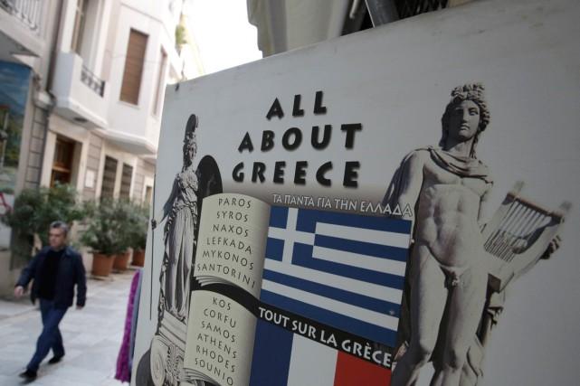 Le ministre grec des Finances, Yanis Varoufakis,suggère le... (PHOTO ASSOCIATED PRESS)