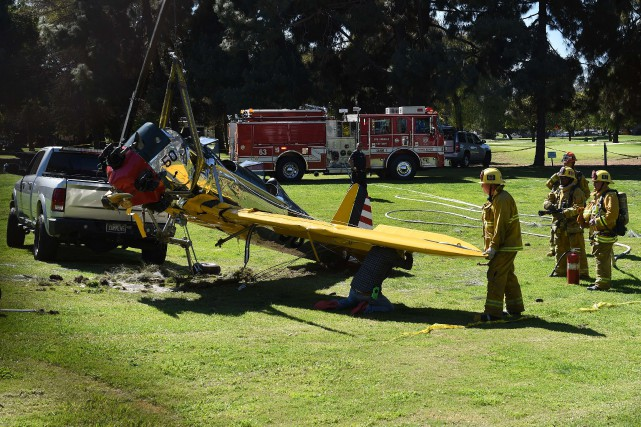 Harrison Ford s'est écrasé à bord de cet... (PHOTO MARK RALSTON, AFP)