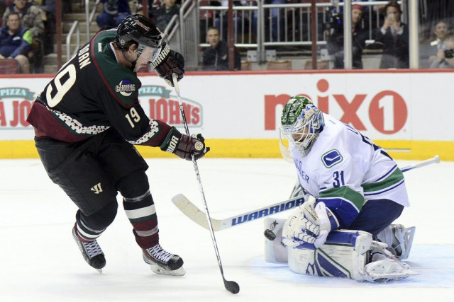 À 38 ans, Shane Doan est un vétéran... (PHOTO JOE CAMPOREALE, USA TODAY)