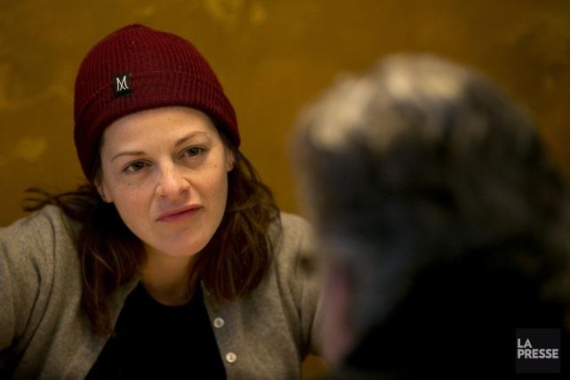 Àl'approche de la quarantaine, la comédienne Sophie Cadieux... (PHOTO FRANCOIS ROY, LA PRESSE)