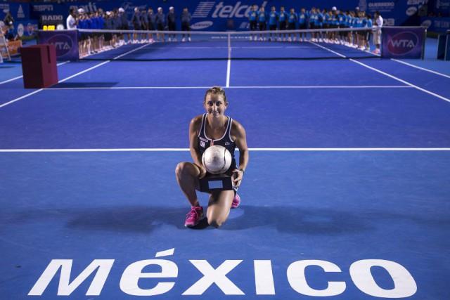 Timea Bacsinszky a vaincuCaroline Garcia la semaine dernière... (Photo Christian Palma, archives AP)