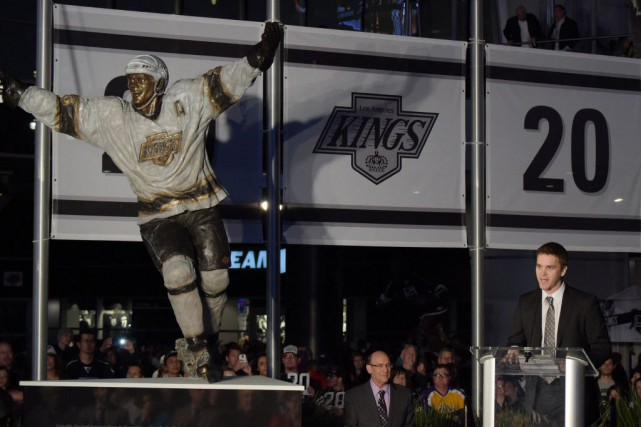 Luc Robitaille, un choix de neuvième ronde, a... (Photo Kirby Lee-USA TODAY Sports)