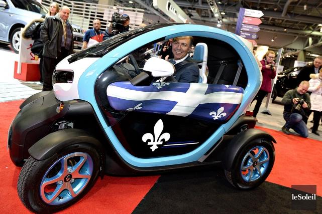 Mardi, au Salon international de l'auto de Québec,... (Le Soleil, Patrice Laroche)