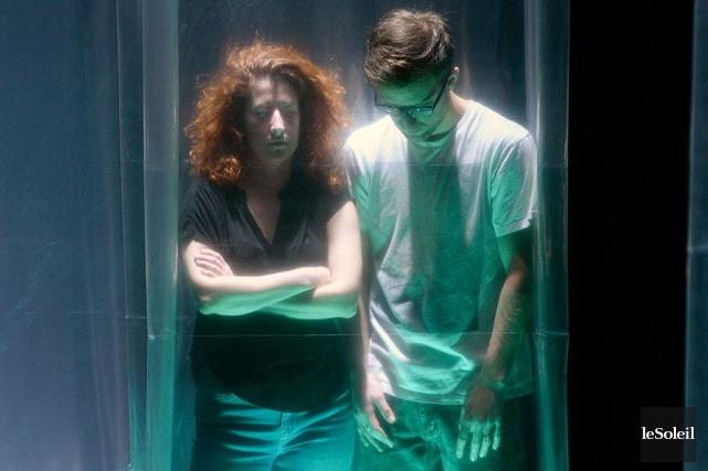 Édith Patenaude et Jocelyn Pelletier dans Disparaître ici... (Le Soleil, Jean-Marie Villeneuve)