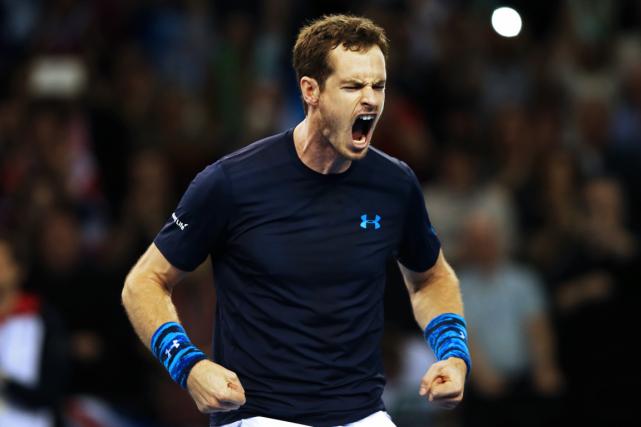 Andy Murray a remporté ses deux matchs desimple... (Photo Ian MacNicol, AFP)