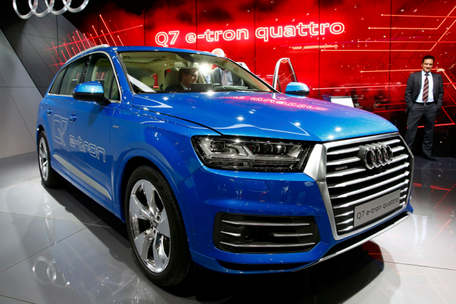 L'Audi Q7 e-tron... (Photo Arnd Wiegmann, Reuters)