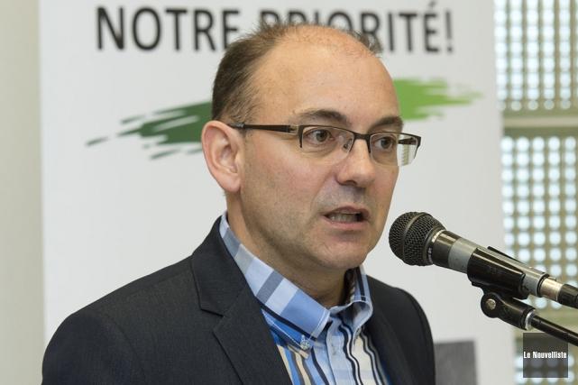 La ténacité du porte-parole de la Coalition d'aide... (Photo: Stéphane Lessard, Le Nouvelliste)