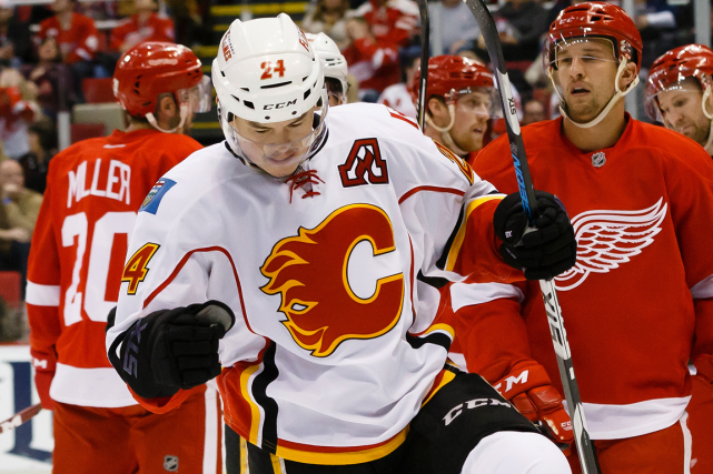 Jiri Hudler a récolté huit points en quatre matchs... (Photo Rick Osentoski, USA Today)