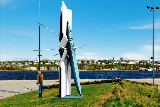 L'imposante structure de Jacek Jarnuszkiewiczsera installée dès ce... (Illustration de Jacek Jarnuszkiewicz)