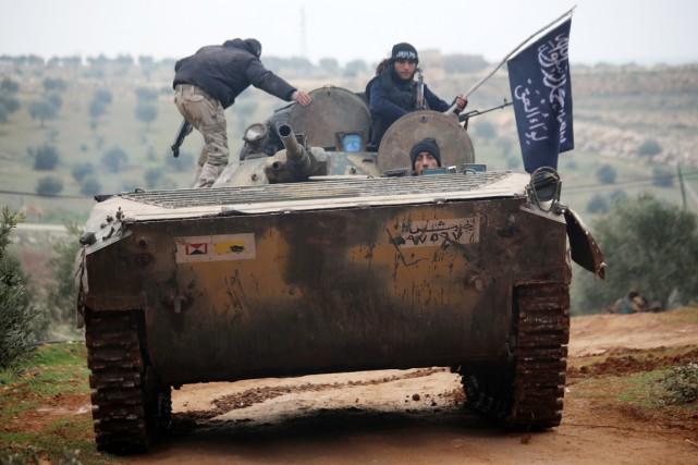 Branche syrienne d'al-Qaïda en Syrie depuis avril 2013,... (PHOTO ARCHIVES AFP/AMC/FADI AL-HALABI)