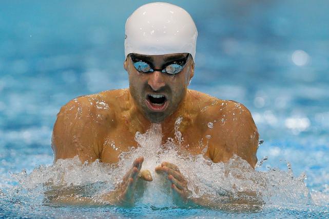 Le nageur Benoît Huota remporté 19 médailles, dont... (Photo Kirsty Wigglesworth, archives AP)