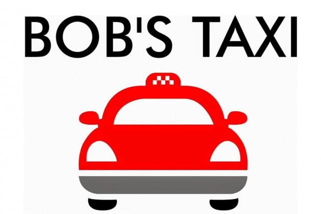 Le logo de la compagnie de taxi...