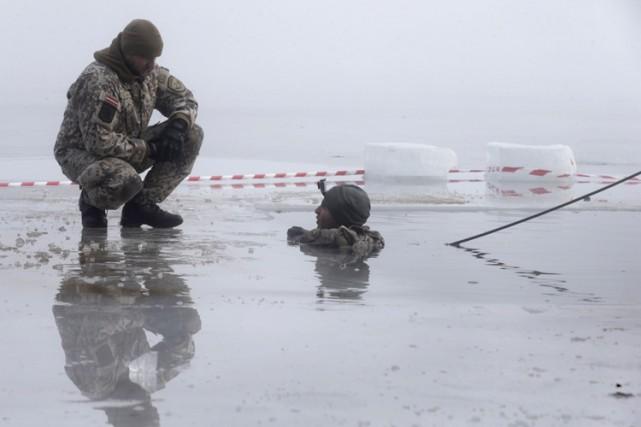 Un premier détachement de 300 hommes est arrivé... (Photo: Reuters)