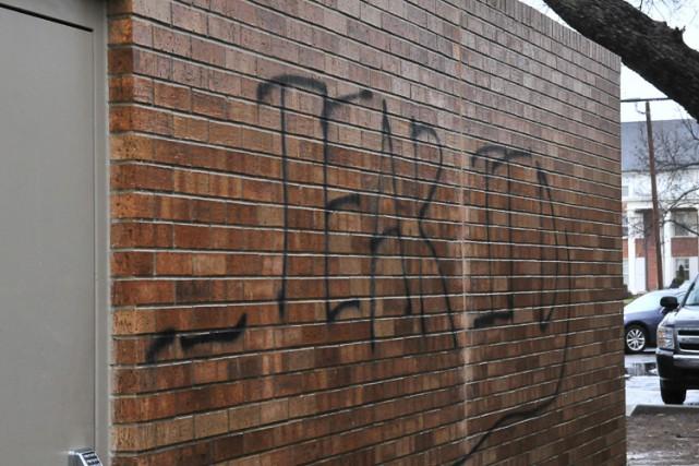 Sur un mur du bâtiment de la fraternité,... (Photo: AP)