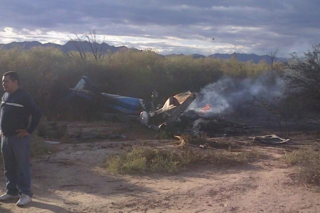 «Apparemment, deux hélicoptères se sont heurtés en plein... (PHOTO ASSOCIATED PRESS)